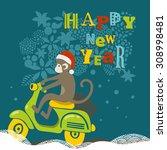 happy new year illustration... | Shutterstock .eps vector #308998481