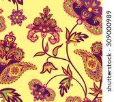 Flourish Tiled Pattern. Floral...