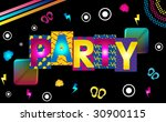 music party funky retro image... | Shutterstock . vector #30900115