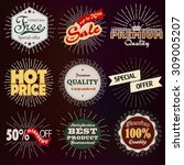 premium quality  sale and... | Shutterstock .eps vector #309005207