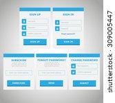 modern vector flat website...