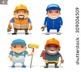 construction professions set 2 | Shutterstock .eps vector #309006509