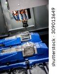 metalworking cnc milling... | Shutterstock . vector #309013649