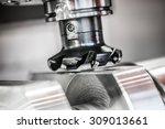 metalworking cnc milling... | Shutterstock . vector #309013661