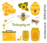 Honey Vector Set With Bee ...