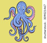 vector hand drawing cartoon... | Shutterstock .eps vector #309021467