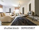 modern living room interior  | Shutterstock . vector #309035807