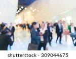 exhibition fair blurred  | Shutterstock . vector #309044675