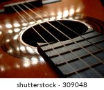 abstract view of a guitar with... | Shutterstock . vector #309048