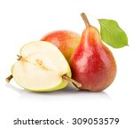 ripe pears close up isolated on ... | Shutterstock . vector #309053579