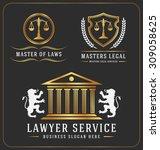 set of lawyer service office... | Shutterstock .eps vector #309058625