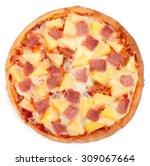 Hawaiian Pizza Isolated On...
