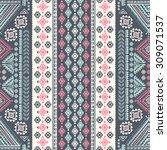 vector tribal mexican vintage... | Shutterstock .eps vector #309071537