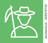 farmer  field  agriculture icon ... | Shutterstock .eps vector #309079745