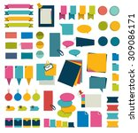 collections of infographics... | Shutterstock .eps vector #309086171