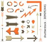 retro arrow designs   set of... | Shutterstock .eps vector #309092441