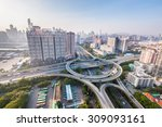 guangzhou interchange road ... | Shutterstock . vector #309093161