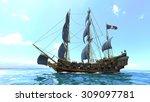 sailing boat | Shutterstock . vector #309097781