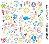 back to school print vector... | Shutterstock .eps vector #309104795