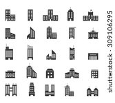 building icons set. | Shutterstock .eps vector #309106295