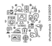 home electronics icons sketch...