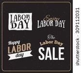 vector illustration labor day a ... | Shutterstock .eps vector #309112031