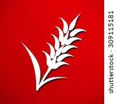 ears of wheat  barley or rye...   Shutterstock . vector #309115181