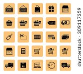 online shopping icon. shopping... | Shutterstock .eps vector #309117359