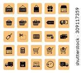 online shopping icon. shopping... | Shutterstock .eps vector #309117359