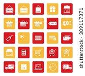online shopping icon. shopping... | Shutterstock .eps vector #309117371