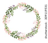 the floral concept of circle... | Shutterstock . vector #309119531
