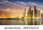dubai marina skyline as seen... | Shutterstock . vector #309132215