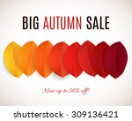 fall sale design. can be used... | Shutterstock .eps vector #309136421