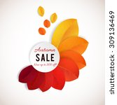 fall sale design. can be used... | Shutterstock .eps vector #309136469