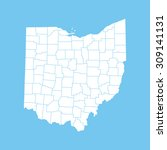 map of ohio | Shutterstock .eps vector #309141131