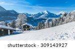 beautiful mountain landscape in ...   Shutterstock . vector #309143927