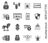 internet security icon set for...   Shutterstock .eps vector #309147755