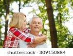 portrait of senior couple... | Shutterstock . vector #309150884