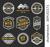 set of bicycle badge logo... | Shutterstock .eps vector #309152171