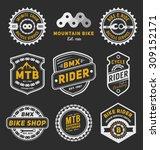 set of bicycle badge logo... | Shutterstock .eps vector #309152171