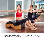 pregnant woman pilates exercise ... | Shutterstock . vector #309156779