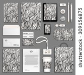 zentangle black and white... | Shutterstock .eps vector #309156875
