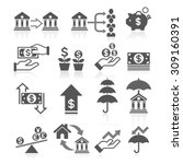 business banking concept icons... | Shutterstock .eps vector #309160391