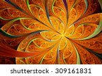 Abstract Fractal  Orange...