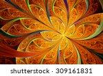 Abstract Fractal  Orange...