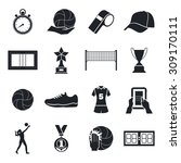 volleyball icons set. cup ... | Shutterstock .eps vector #309170111