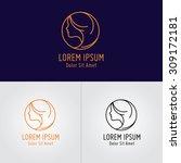 beauty logo design template   | Shutterstock .eps vector #309172181