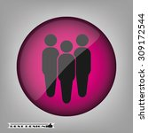 three people | Shutterstock .eps vector #309172544