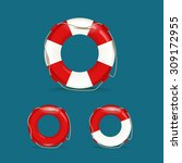 defferent safety buoy collection | Shutterstock .eps vector #309172955
