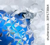 low polygon triangle pattern...   Shutterstock . vector #309173864